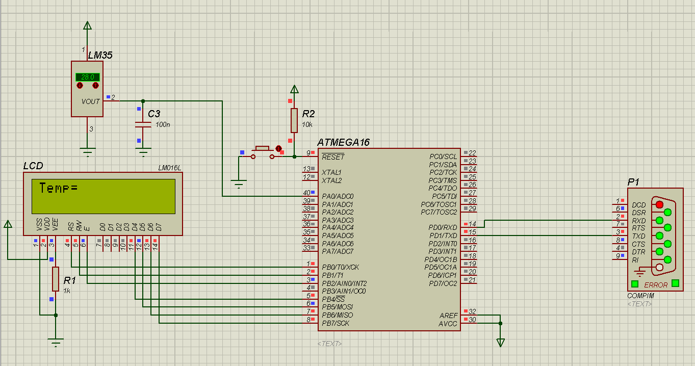 problem with lm35 temprature sensor and atmega16 in